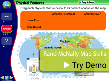 Rand McNally Map Skills Demo