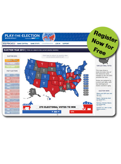 Register for Play the Election 2012